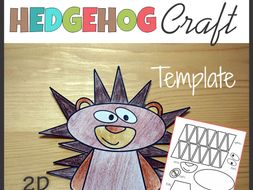 Hedgehog Craft - Template Cut and Paste