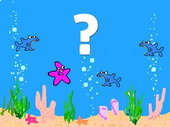 Scratch - Shark Attack! ...What happens next?!  (Scratch, programming, KS3, computing, coding, fun)