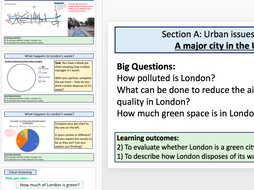 London Case Study - Pollution, waste and green space (AQA 9-1 Geo)