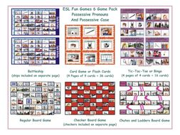 Possessive Pronouns & Possessives Board Game Bundle