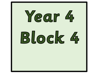 Year 4 - Block 4 Multiplication and Division