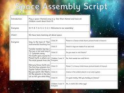 Space Assembly Script - EYFS/KS1