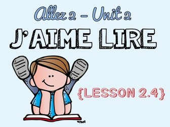 Allez 2 - Unit 2.4 - FREE - types of books - adjectives - opinions - KS3 French