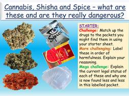 Drugs: Cannabis, Shisha + Spice Drugs