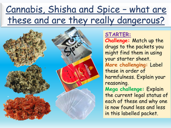Drugs: Cannabis + Spice