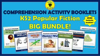 Popular Fiction KS2 Comprehension Activity Booklets Big Bundle!