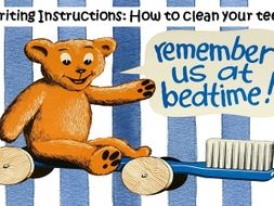 Writing Instructions - How to Clean Your Teeth
