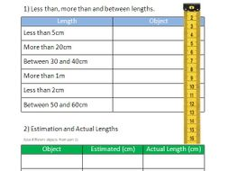Measuring Length of Objects in the Classroom Worksheet