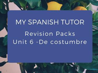 GCSE Revision Pack - Unit 6 De Costumbre