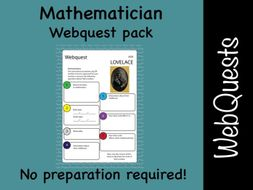 Mathematicians and maths Google web quest (webquest) pack