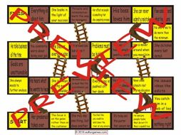 Bad Bosses Chutes and Ladders Board Game