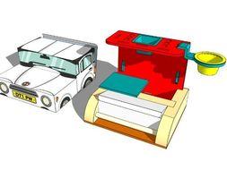 SketchUp tutorial for the Modular Desk Organiser