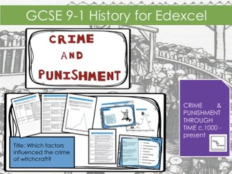 Edexcel GCSE  9-1 Crime & Punishment Lesson 14:  Which factors influenced the crime of witchcraft?