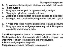A level Biology - Pathogens and the Immune System