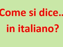 "Come si dice ""Please"" in italiano? Posters with useful questions."