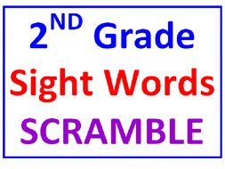 Second Grade Sight Words SCRAMBLE Booklet (15 Pages)