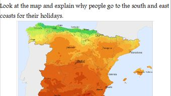 Map Of Spain Geography.Geography Of Spain Lesson Powerpoint And Worksheet