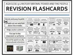 Power and the People Revision Flashcards AQA 9-1