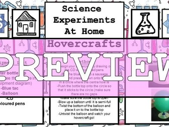 Science Home Experiment - Hovercrafts