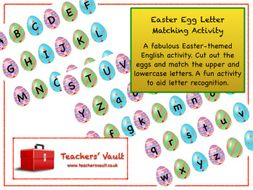 Easter Egg Letter Matching Activity