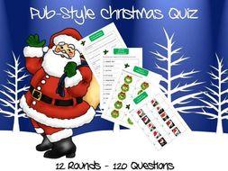 Christmas Quiz - Pub Style