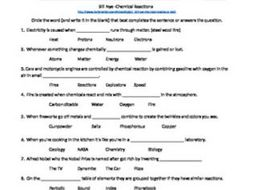 Bill nye chemical reactions video sheet by bmw2182 teaching bill nye chemical reactions video sheet urtaz Choice Image