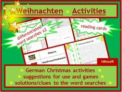 Christmas German Activities & Games