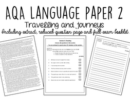AQA GCSE Language Paper 2: Travelling by laurajholder