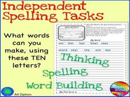 Independent Spelling Game and Word Building Activity BOGGLE 10