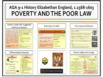 Poverty and the Elizabethan Poor Law of 1601