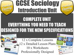 Introduction Unit - GCSE Sociology (12 Lessons!)