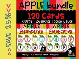 Apple Alphabet Flashcards Bundle