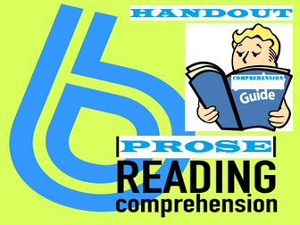 READING COMPREHENSION GUIDE: HANDOUTS