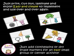 Beginning Sounds: Same Sound Clip Cards