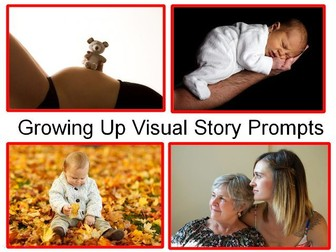 Growing Up Visual Story Creative Prompts, KS2 Science Vocab+ 31 Tasks