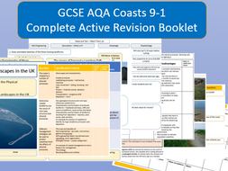 AQA 9-1 Coastal Landscapes in the UK Complete Revision Booklet