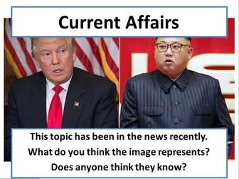 North Korea Crisis - Current Affairs Form Time Activity