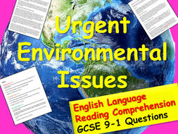 Reading Comprehension : Environment
