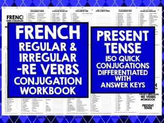 FRENCH VERBS: FRENCH -RE VERBS PRESENT TENSE
