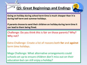 AQA Paper 2 Opening and Endings