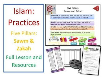 Islam: Practices - Five Pillars: Sawm and Zakah - Whole Lesson and Resources