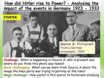 Hitler + Nazi Rise