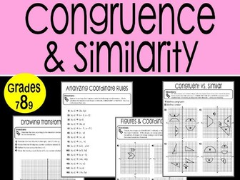 Congruence and Similarity Math Stations