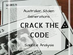 The Stolen Generations Source Analysis - Crack the Code