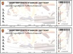 Exit Ticket Template By Scrotty Teaching Resources Tes