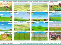 Present Perfect Continuous Tense Barnyard English PowerPoint Game