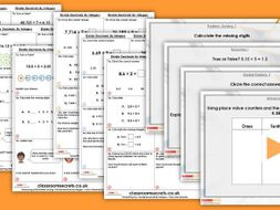 Year 6 Divide Decimals by Integers Spring Block 1 Step 5 maths Lesson Pack