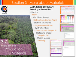 AQA GCSE DT 3.7 More on the Production of Materials