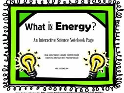 Kinetic and Potential Energy: Interactive Science Notebook