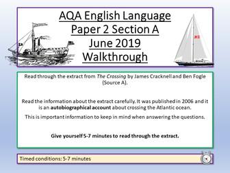 AQA English Language Paper 2 June 2019